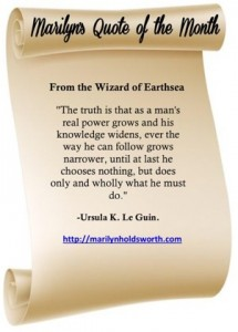 Quote from A Wizard of Earthsea.