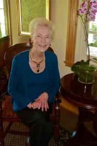 Author Marilyn Holdsworth at home