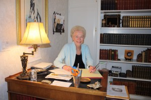 Author Marilyn Holdsworth at home in office