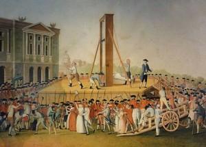 Marie Antoinette at guillotine.