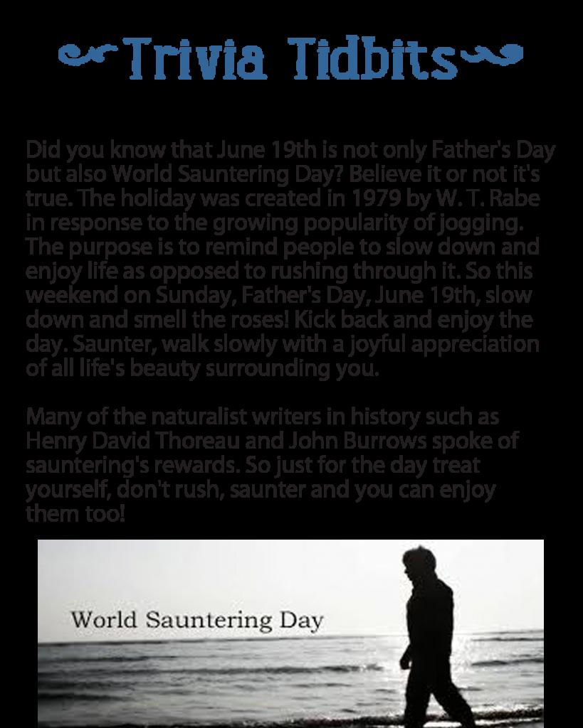 World Sauntering Day
